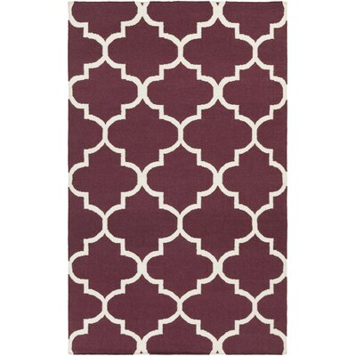 York Purple Geometric Mallory Area Rug Rug Size: 5 x 8