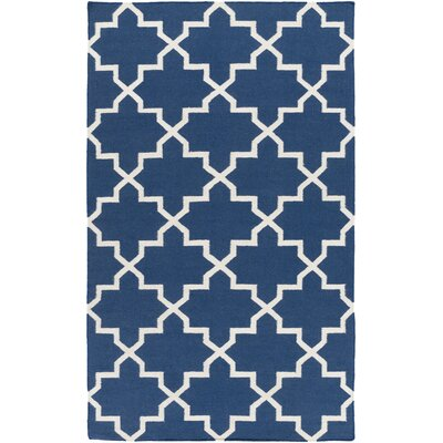 York Navy Geometric Reagan Area Rug Rug Size: 5 x 8