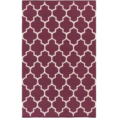 Bohannon Purple Geometric Area Rug Rug Size: Rectangle 8' x 10'