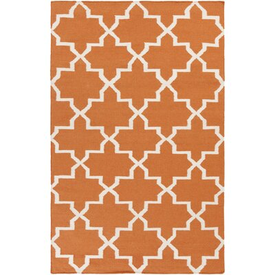 Bangor Orange Geometric Area Rug Rug Size: Rectangle 2 x 3