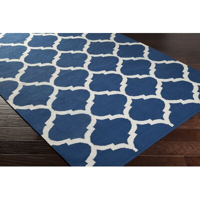 Vogue Blue Geometric Everly Area Rug Rug Size: 9 x 12