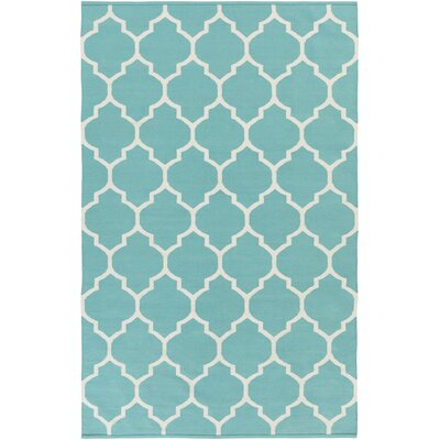 Vogue Teal Geometric Claire Area Rug Rug Size: 5 x 8