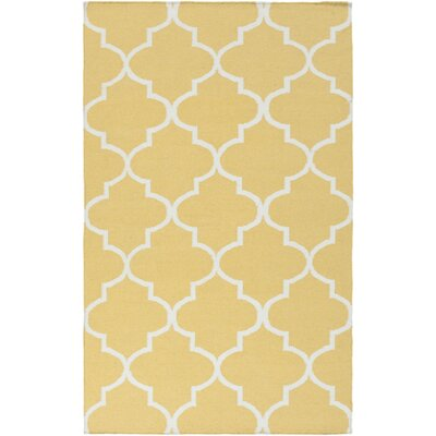York Yellow Geometric Mallory Area Rug Rug Size: 4 x 6