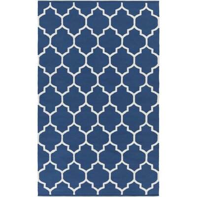 Bohannon Handmade Blue Geometric Area Rug Rug Size: Rectangle 4 x 6