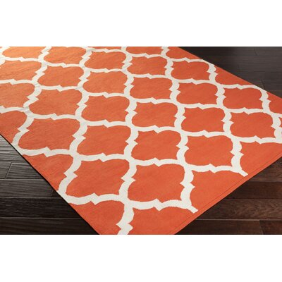 Vogue Orange Geometric Everly Area Rug Rug Size: 9 x 12