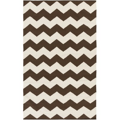 Murguia Brown Chevron Area Rug Rug Size: Rectangle 9 x 12