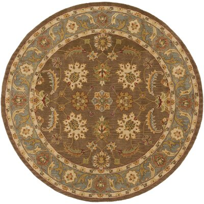 Plemmons Brown Area Rug Rug Size: Round 8