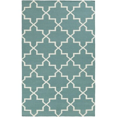 Bangor Teal Geometric Area Rug Rug Size: Rectangle 4 x 6