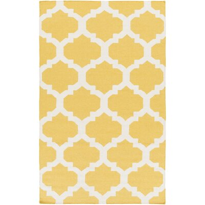 Bangor Yellow Geometric Area Rug Rug Size: Rectangle 10 x 14