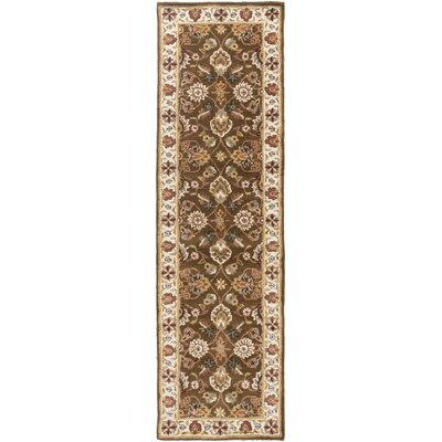 Plemmons Handmade Brown Area Rug Rug Size: Runner 23 x 8