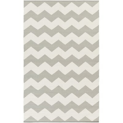 Murguia Grey & White Chevron Area Rug Rug Size: Rectangle 8 x 10