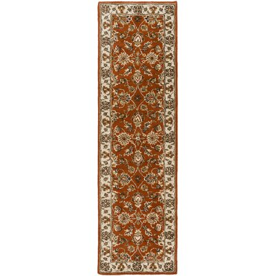 Plemmons Handmade Red Area Rug Rug Size: Runner 23 x 8