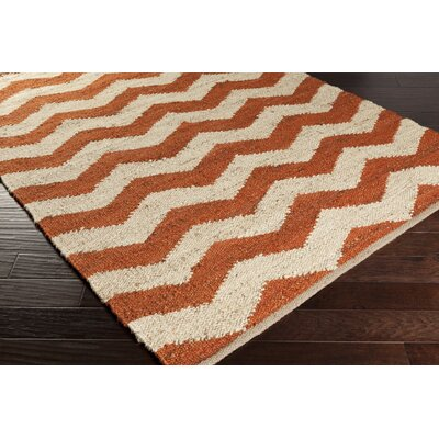 Ayers Rust & Ivory Area Rug Rug Size: Rectangle 8 x 10