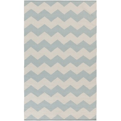 Murguia Blue Chevron Area Rug Rug Size: Rectangle 9 x 12