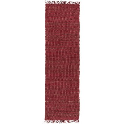 Pineda Hand Woven Red Area Rug Rug Size: Runner 23 x 12