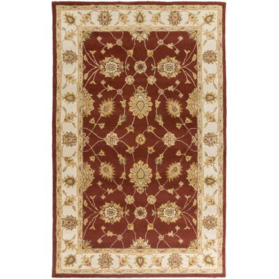 Plemmons Red Area Rug Rug Size: Rectangle 76 x 96
