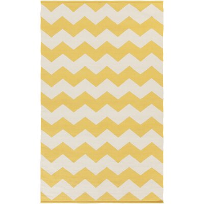 Vogue Gold Chevron Collins Area Rug Rug Size: 4 x 6
