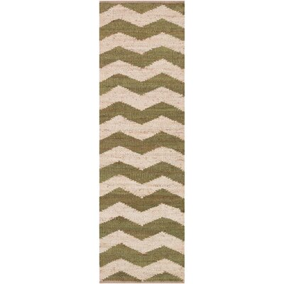 Ayers Olive/Ivory Area Rug Rug Size: Runner 23 x 12