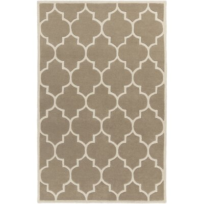 Ayler Beige Geometric Area Rug Rug Size: Rectangle 5 x 8