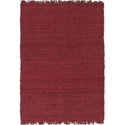 Pineda Hand Woven Red Area Rug Rug Size: Rectangle 4 x 6