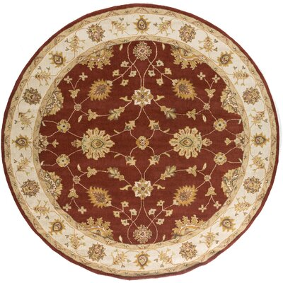 Middleton Red Hattie Area Rug Rug Size: Round 8