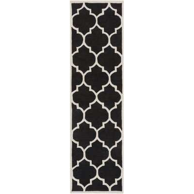 Transit Black Geometric Piper Area Rug Rug Size: Runner 23 x 12