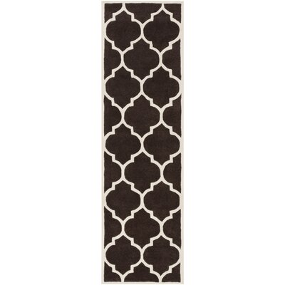 Ayler Brown Geometric Area Rug Rug Size: Runner 23 x 10