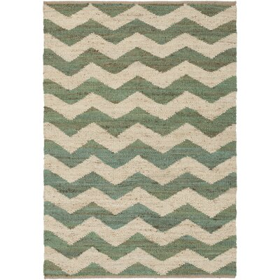 Ayers Teal/Ivory Area Rug Rug Size: Rectangle 4 x 6