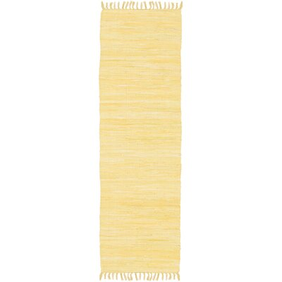 Devaughn Hand-Woven Gold Area Rug Rug Size: Runner 11 x 6