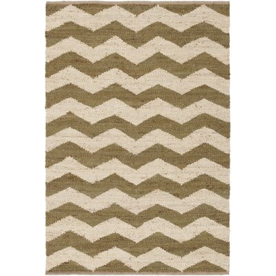 Ayers Olive/Ivory Area Rug Rug Size: Rectangle 5 x 76
