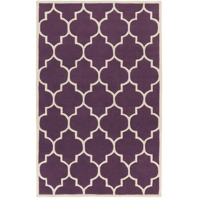 Ayler Purple Geometric Area Rug Rug Size: Rectangle 4 x 6