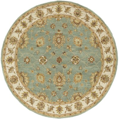 Plemmons Sage Area Rug Rug Size: Round 6