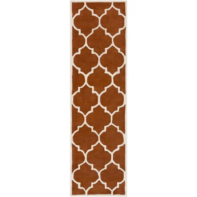 Ayler Orange Geometric Area Rug Rug Size: Runner 23 x 12