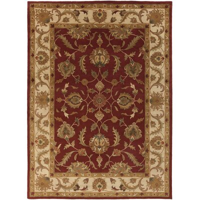 Mckelvey Red Area Rug Rug Size: Rectangle 76 x 96
