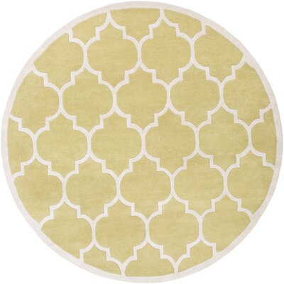 Transit Gold Geometric Piper Area Rug Rug Size: Round 8