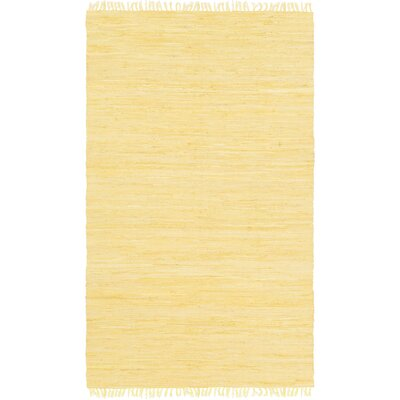 Devaughn Hand-Woven Gold Area Rug Rug Size: 49 x 711