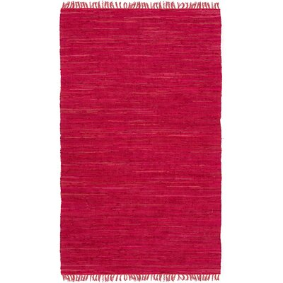 Easy Home Red Solid Delaney Area Rug Rug Size: 49 x 711
