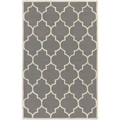Ayler Charcoal Geometric Area Rug Rug Size: Rectangle 76 x 96