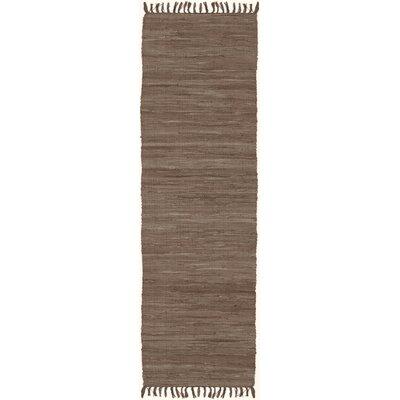 Devaughn Hand-Woven Brown Area Rug Rug Size: Runner 23 x 10
