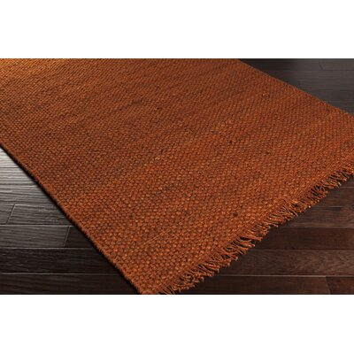 Pineda Hand Woven Rust Area Rug Rug Size: Rectangle 5 x 76