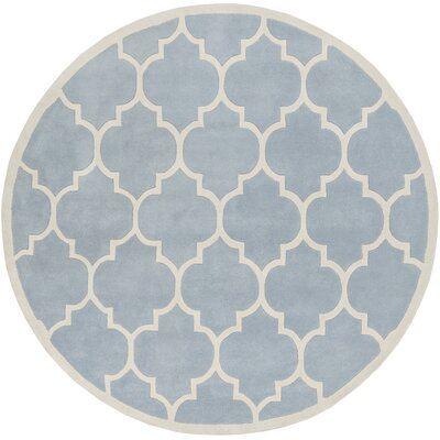 Ayler Blue Geometric Area Rug Rug Size: Rectangle 76 x 96