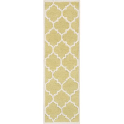 Transit Gold Geometric Piper Area Rug Rug Size: Runner 23 x 8