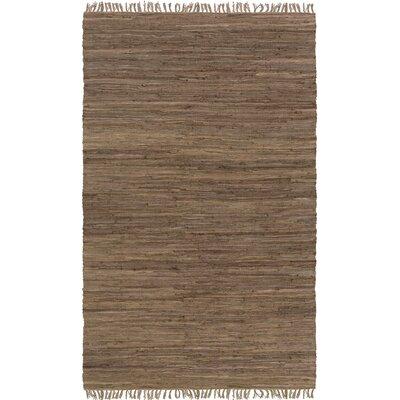Easy Home Brown Solid Delaney Area Rug Rug Size: 49 x 711