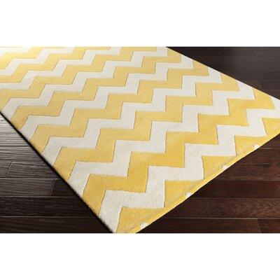 Ayler Yellow/Ivory Chevron Area Rug Rug Size: Rectangle 5 x 8