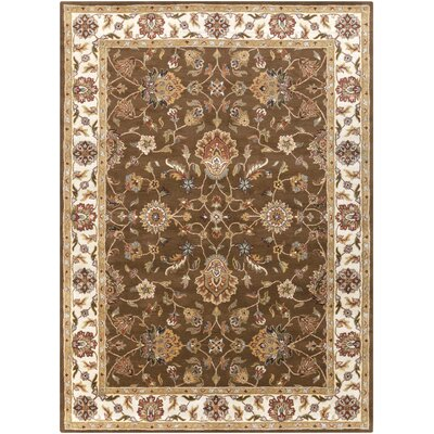 Plemmons Handmade Brown Area Rug Rug Size: Rectangle 4 x 6