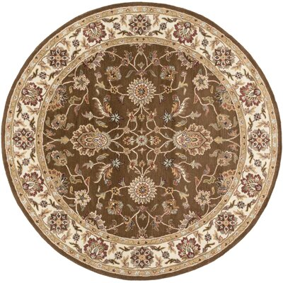 Middleton Brown Charlotte Area Rug Rug Size: Round 6