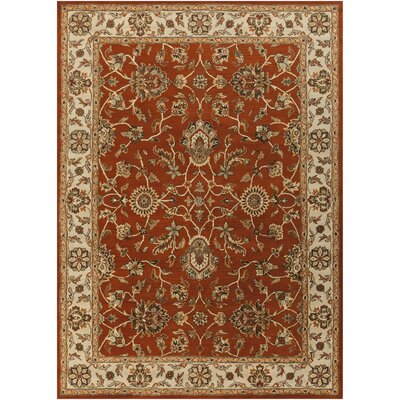 Plemmons Handmade Red Area Rug Rug Size: Rectangle 76 x 96