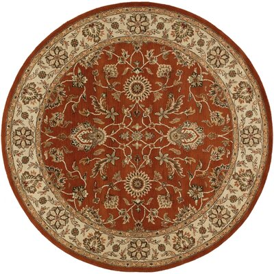 Middleton Red Charlotte Area Rug Rug Size: Round 8