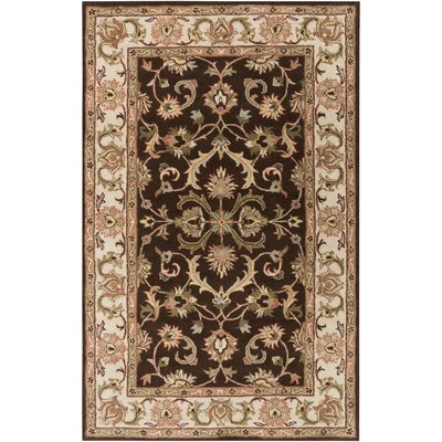Oxford Brown Aria Area Rug Rug Size: Round 6