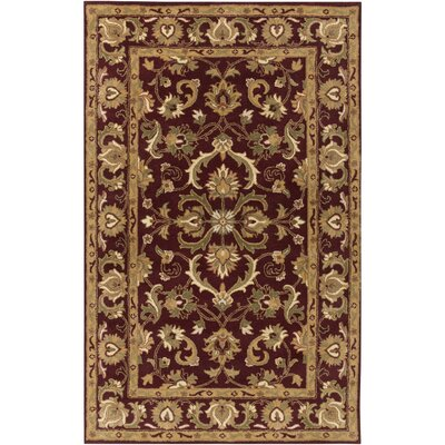 Mckelvey Handmade Red Area Rug Rug Size: Rectangle 5 x 8